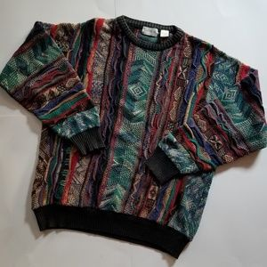 Vintage | 80s/90's Modern Elements Coogi-Style Top
